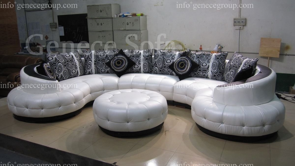 Sofa : Modern Curved Sectional Sofa Curved Blue Sofa Round Sectional intended for Rounded Corner Sectional Sofas (Image 9 of 10)