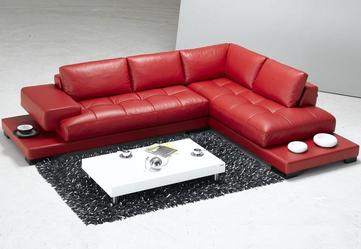 Sofa : Red Sectional Furniture Cream Sectional Couch Soft Leather inside Red Faux Leather Sectionals (Image 13 of 15)