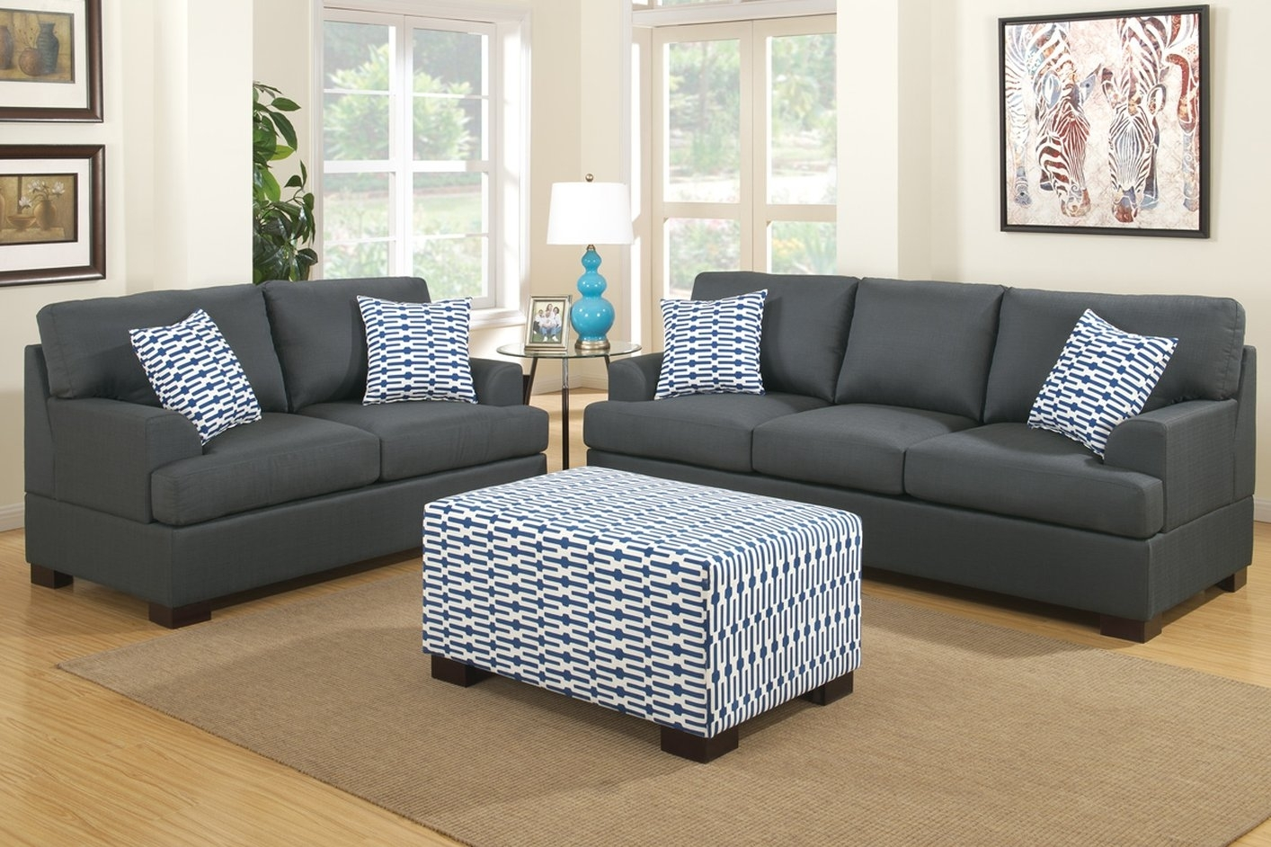 Sofa : Sleeper Sofa With Matching Reclining Loveseat White Loveseats inside Loveseats With Ottoman (Image 12 of 15)