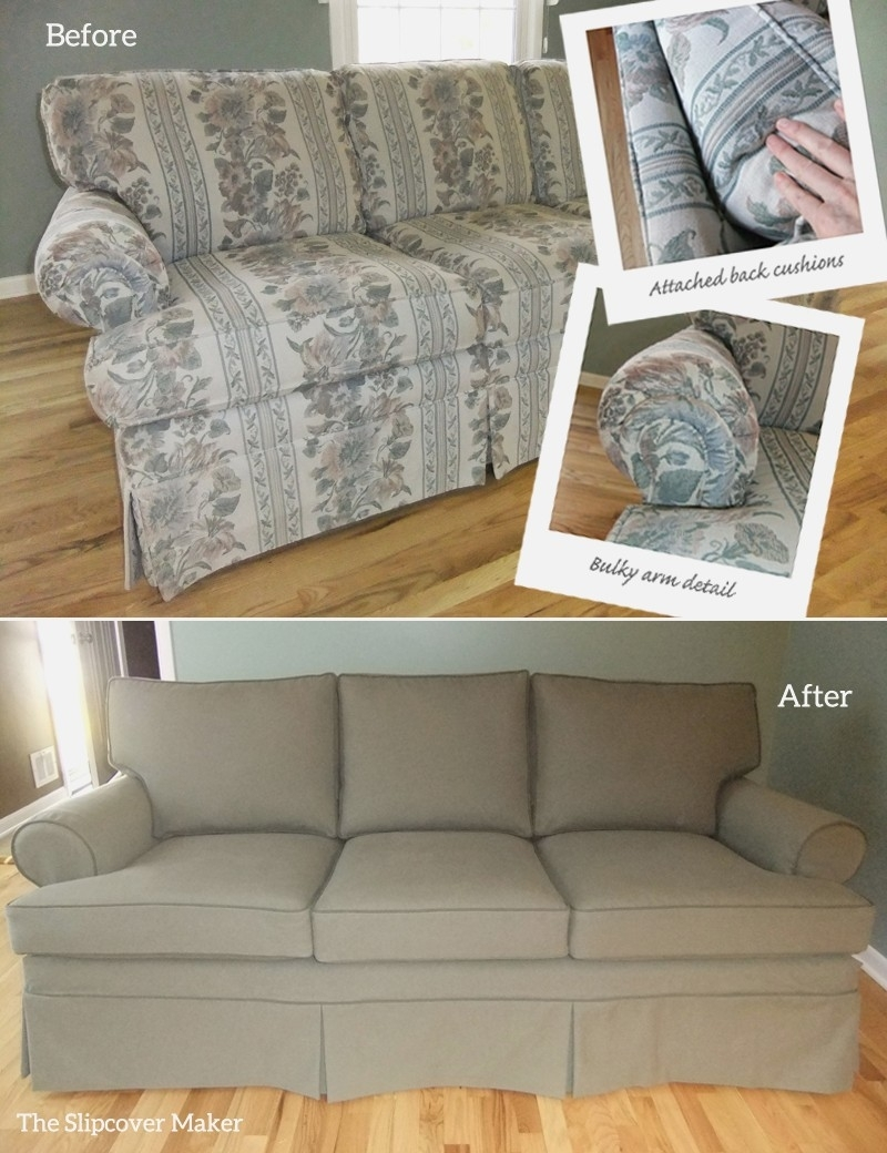 Sofa Slipcover : Linen Slipcover Sofa Living Room Chair Covers Within Removable Covers Sectional Sofas (View 9 of 10)