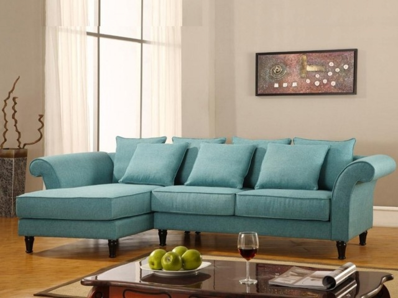 Sofa : Turquoise Shell Sofa Cover Leather Sleeper Sofaturquoise Dark pertaining to Turquoise Sofas (Image 5 of 10)