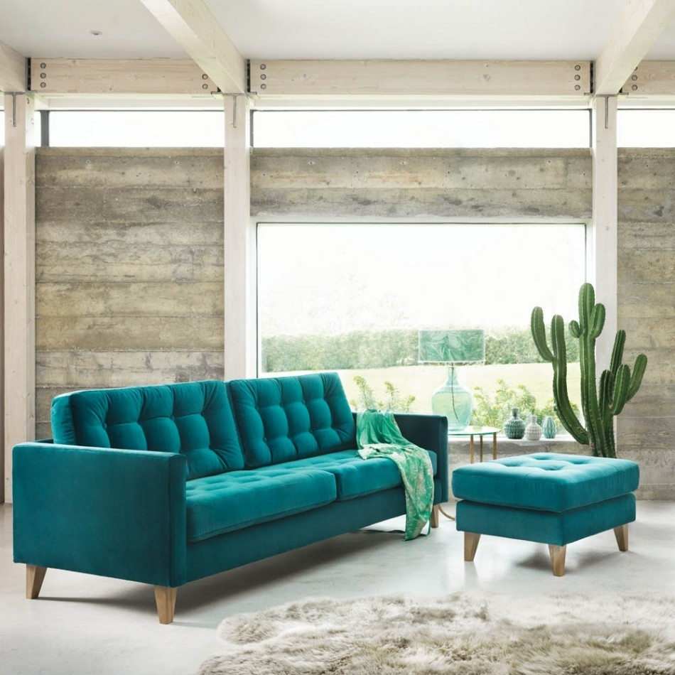 Sofa : Turquoise Sofa Uk Teal Leather Couch Togo Sofa Dark Blue pertaining to Turquoise Sofas (Image 6 of 10)