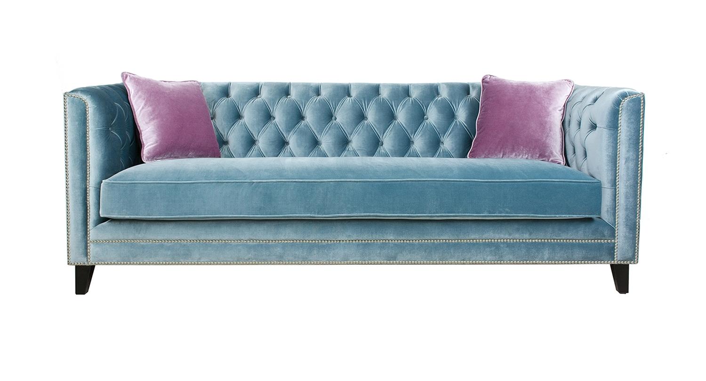 Sofas - Categories - Pasargad Carpets throughout Aqua Sofas (Image 10 of 10)