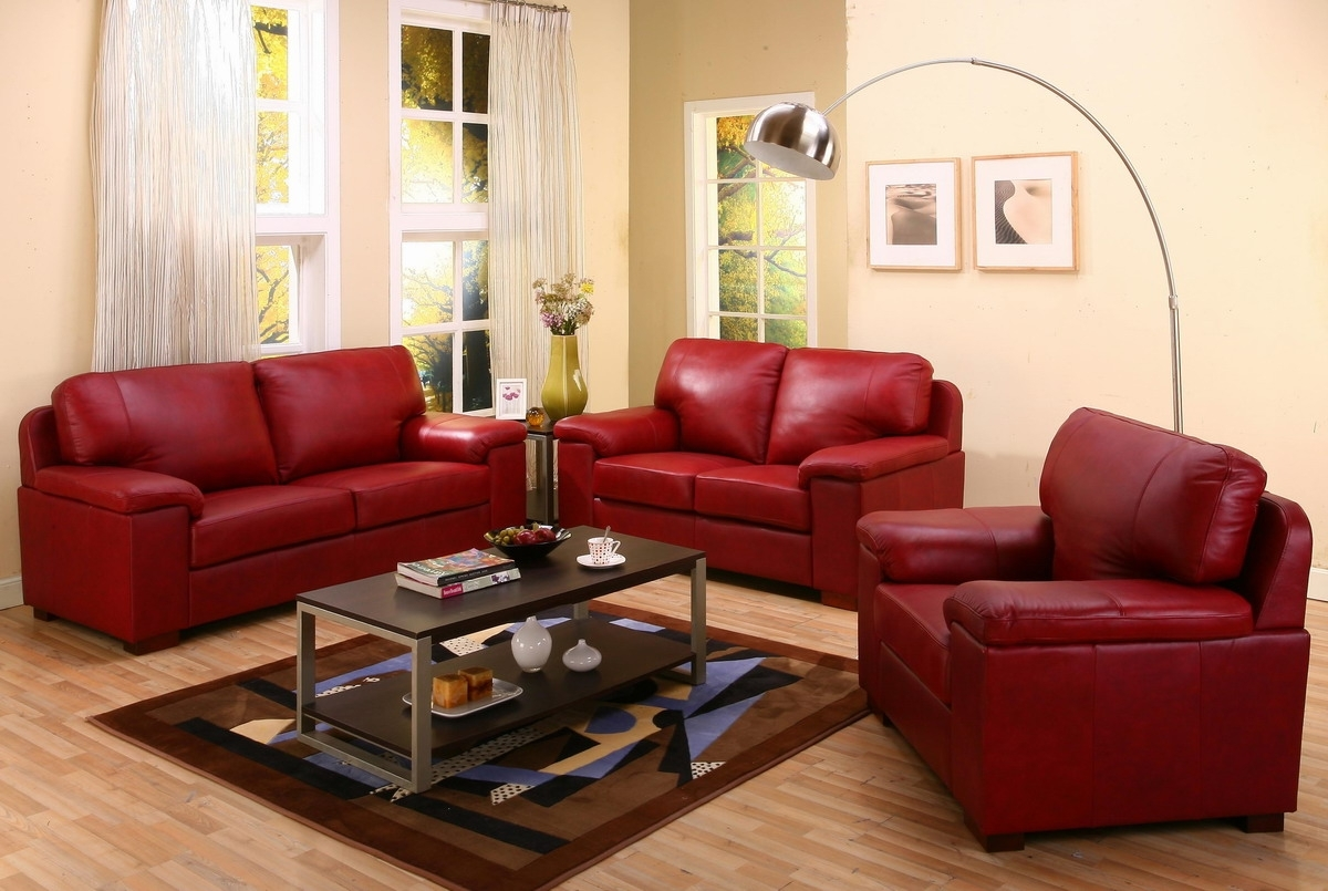Spectacular Red Leather Couch Living Room Ideas 11 In With Red pertaining to Red Leather Couches For Living Room (Image 13 of 15)