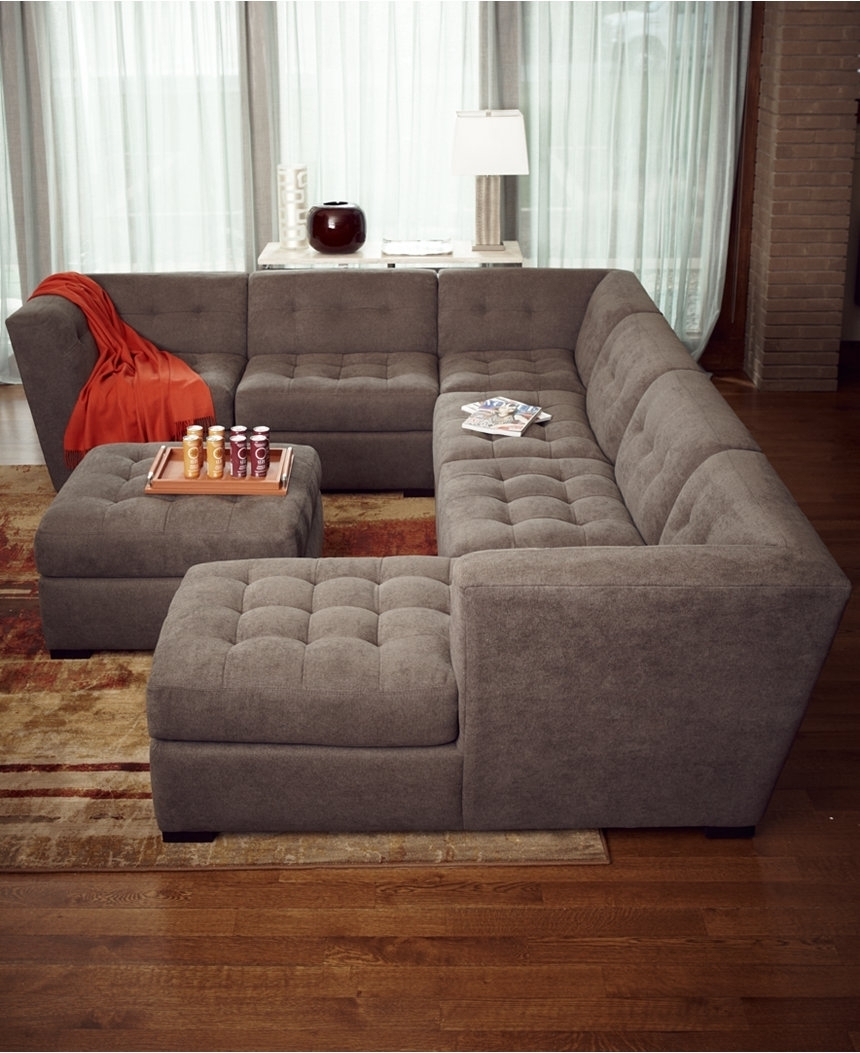 Stacey Leather Sectional Sofa 5 Piece Modular Pit • Leather Sofa Inside Sectional Sofas That Come In Pieces (View 10 of 10)
