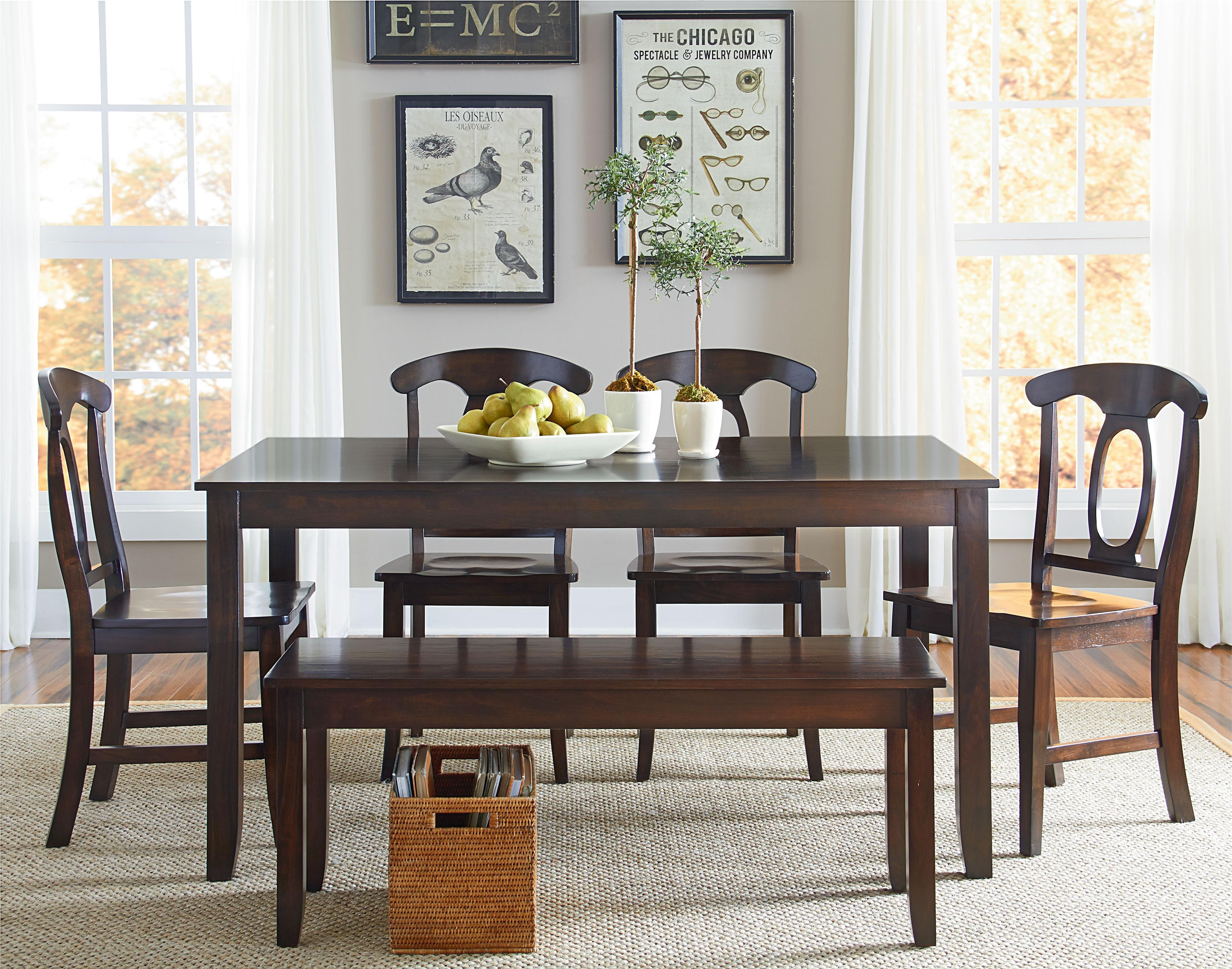 Standard Furniture Larkin 6 Piece Dining Table Set With Open Oval in Sofa Chairs With Dining Table (Image 10 of 10)
