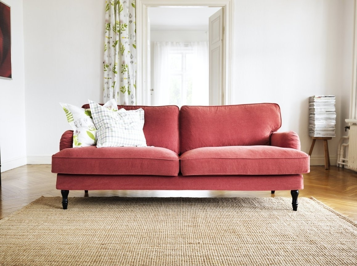 Stocksund Sofa | Red Fabric, Arms And Traditional with Apartment Sofas (Image 10 of 10)