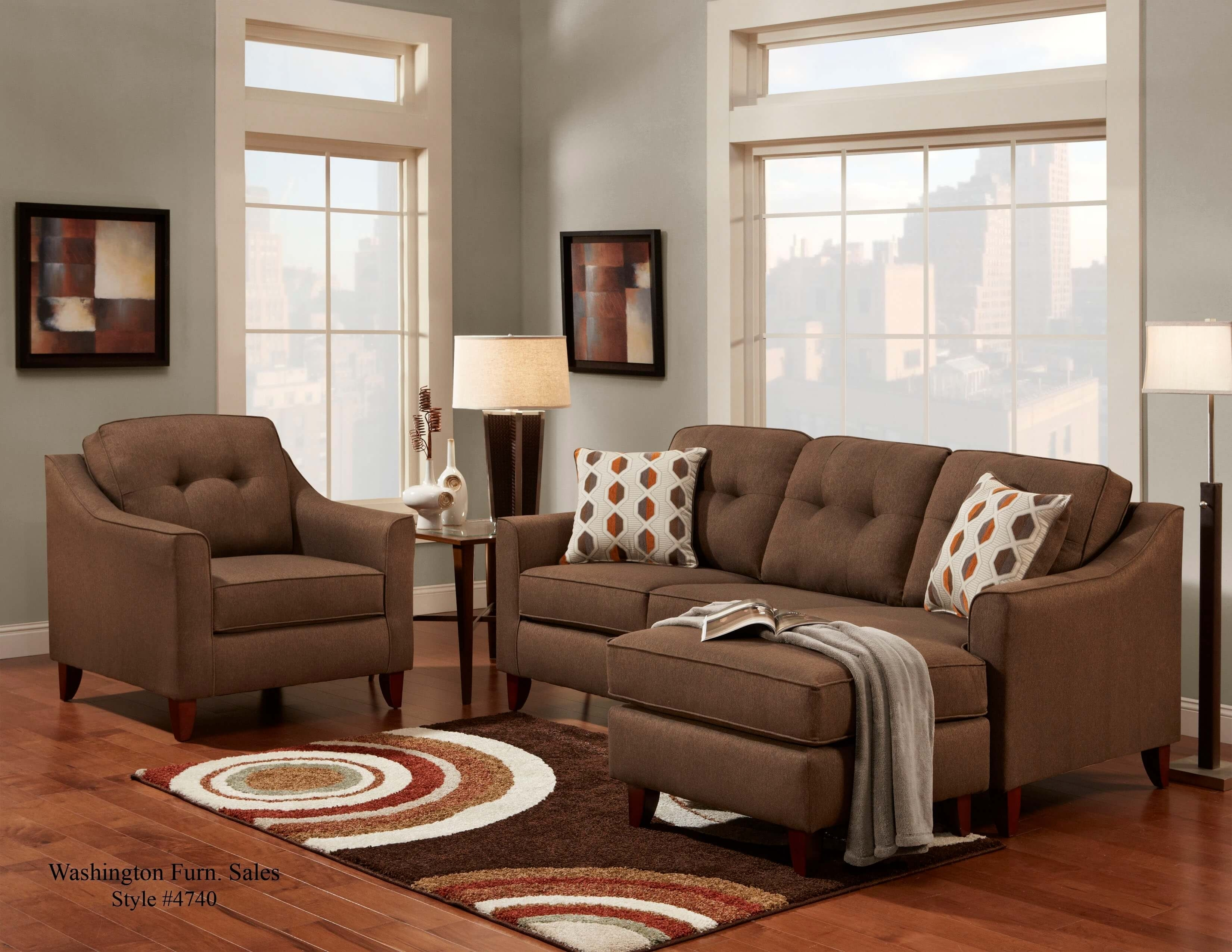 Stoked Chocolate Sofa/chaise | Sectional Sofa Sets within Chocolate Sectional Sofas (Image 14 of 15)