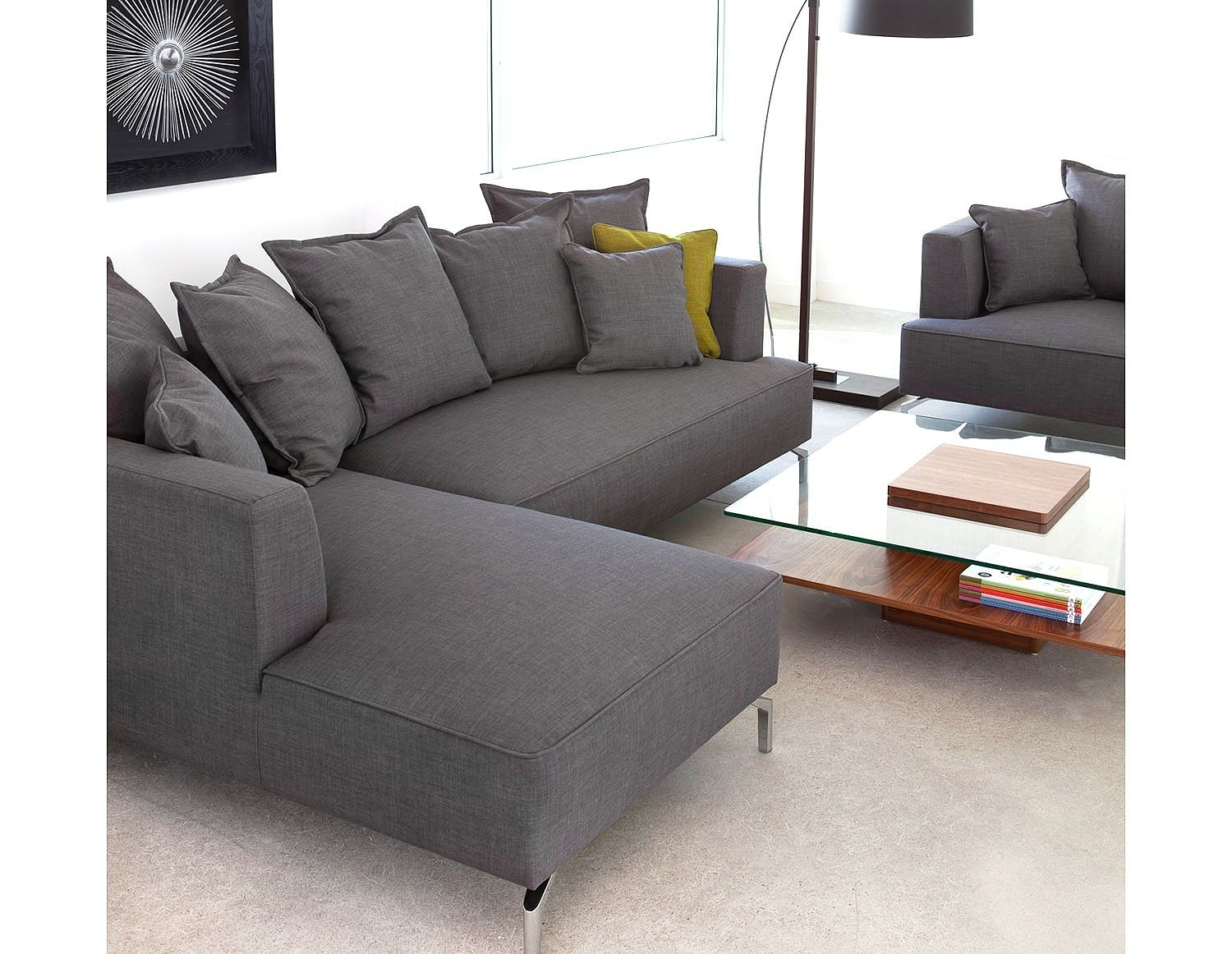 Structube - Lighting : Floor Lamps : Curva (Dark Brown) | Patti's with Structube Sectional Sofas (Image 5 of 10)