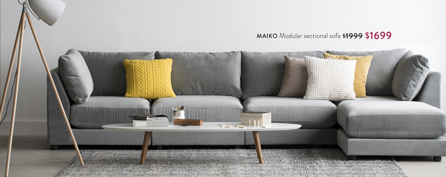 Structube – Maiko Modular Sectional Sofa $1999 $1699, Dylan Coffee inside Structube Sectional Sofas (Image 6 of 10)