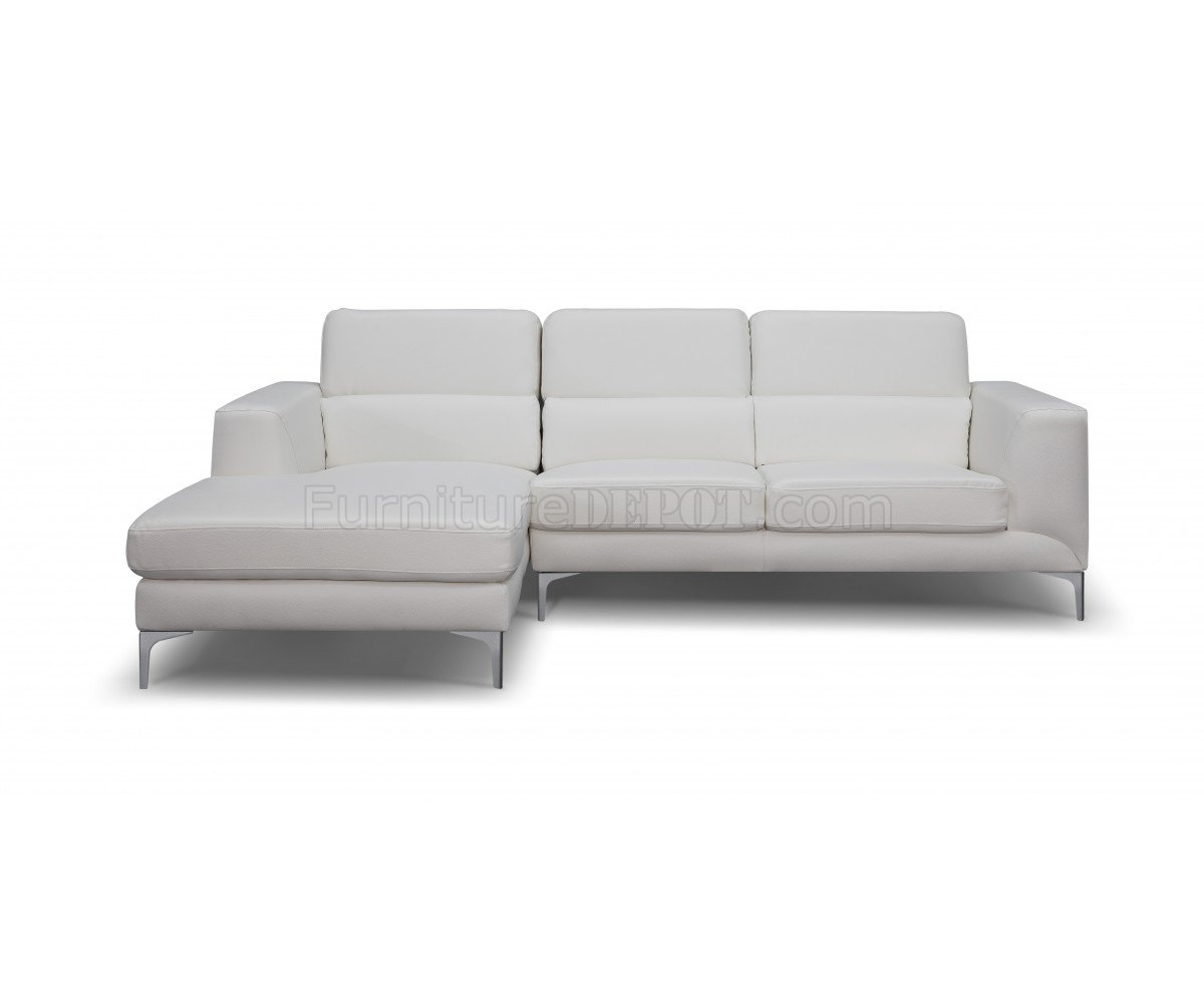 Sydney Sectional Sofa In White Faux Leatherwhiteline inside Sydney Sectional Sofas (Image 9 of 10)