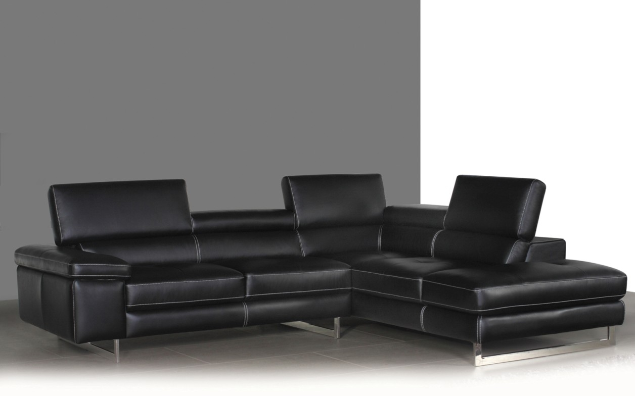 Syncro Leather Sectional Sofa – Titanium Grey | Buy Sectional Sofas Within Sectional Sofas At Bc Canada (View 11 of 15)