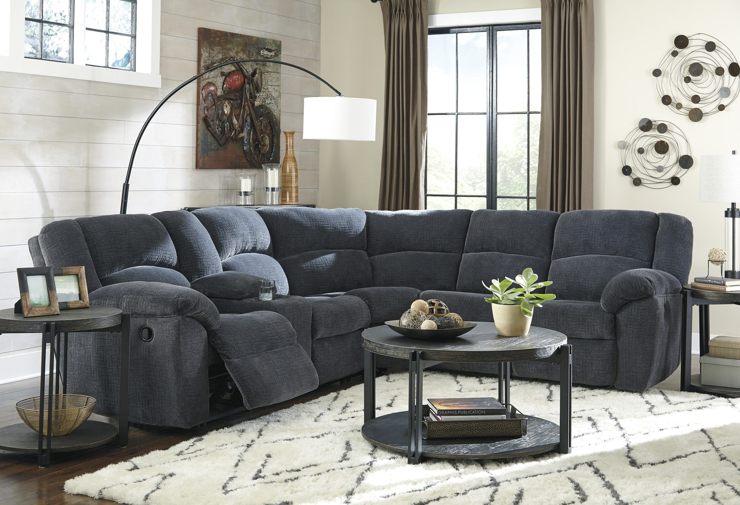 Texas 2 Piece Reclining Sectional | Hom Furniture Pertaining To St Cloud Mn Sectional Sofas (View 9 of 10)