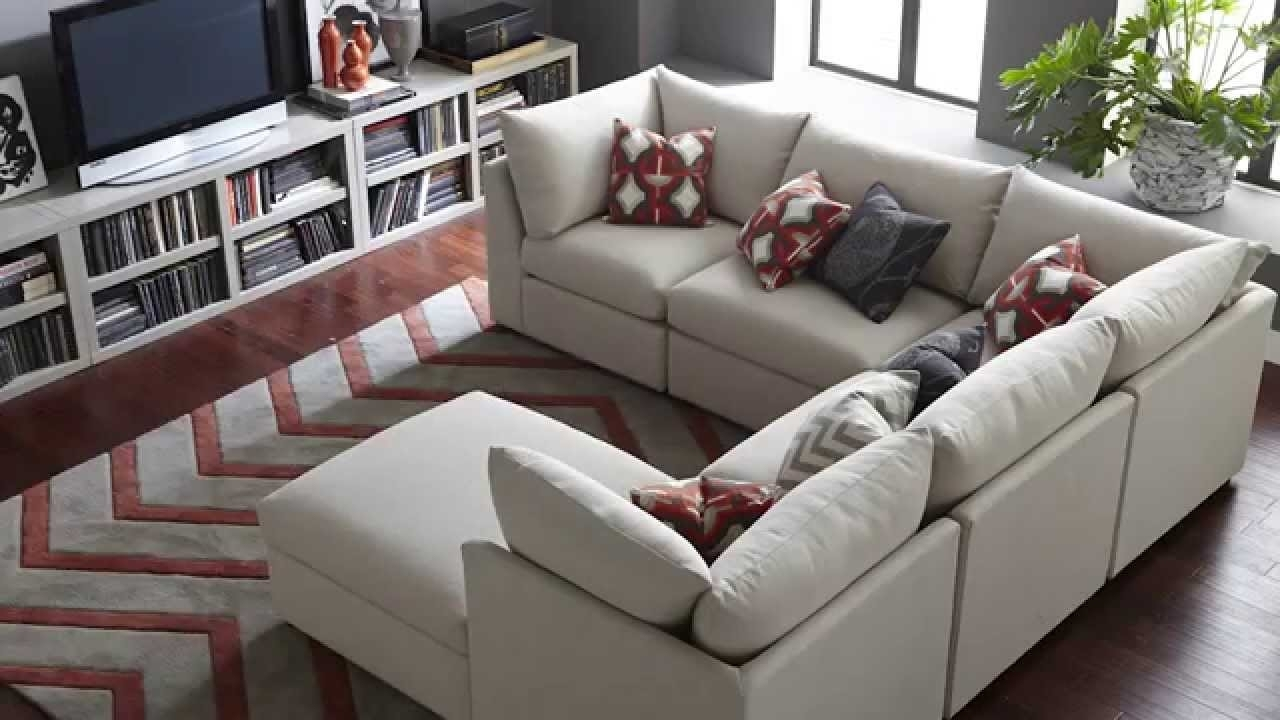 The Beckham Sectional Sofabassett Furniture - Youtube for Sectional Sofas (Image 9 of 10)