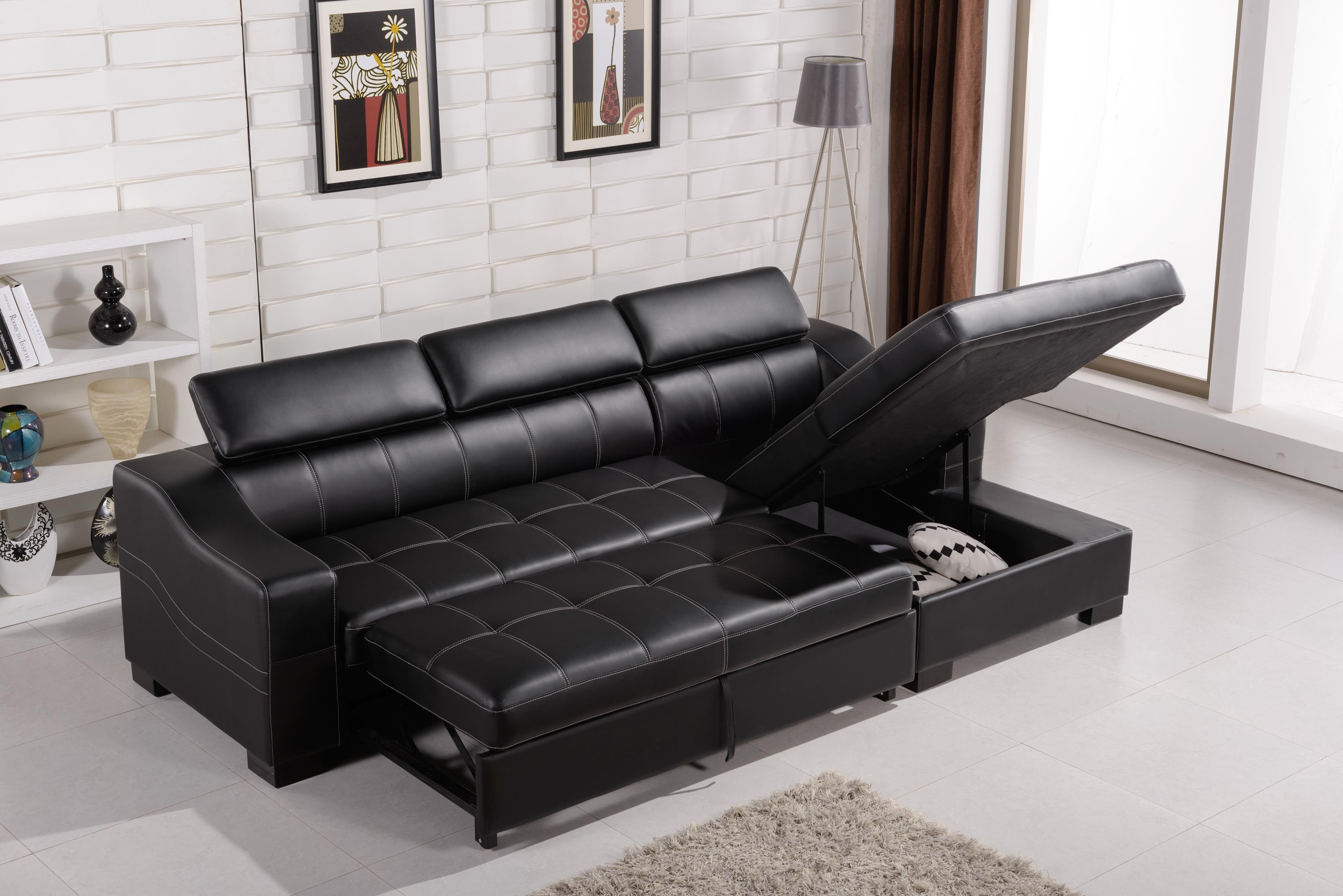 The Best Fashionable Design White Faux Leather Sectional Corner Of with Leather Sofas With Storage (Image 9 of 10)