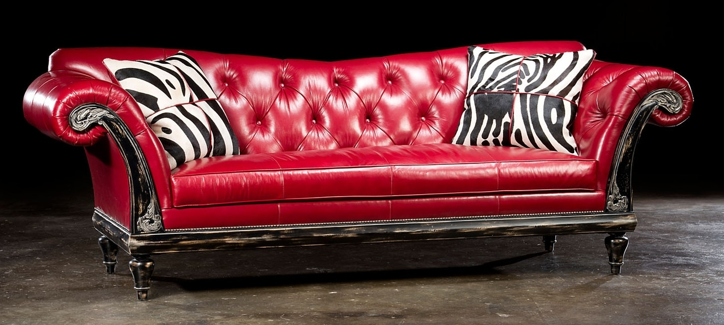 The Exquisite Red Leather Sofa In Your Living Rooms - Bazar De Coco for Red Leather Couches and Loveseats (Image 14 of 15)