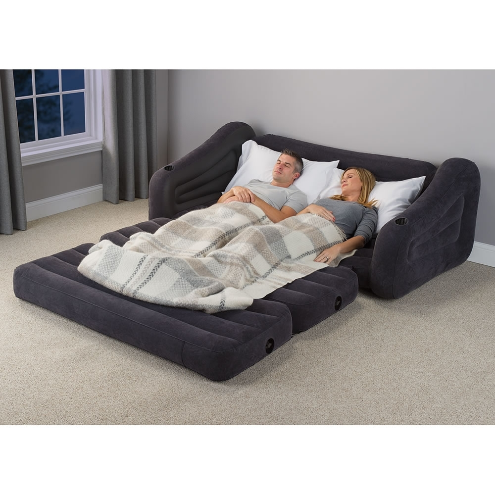 The Inflatable Queen Size Sleeper Sofa - Hammacher Schlemmer intended for Queen Size Sofas (Image 10 of 10)