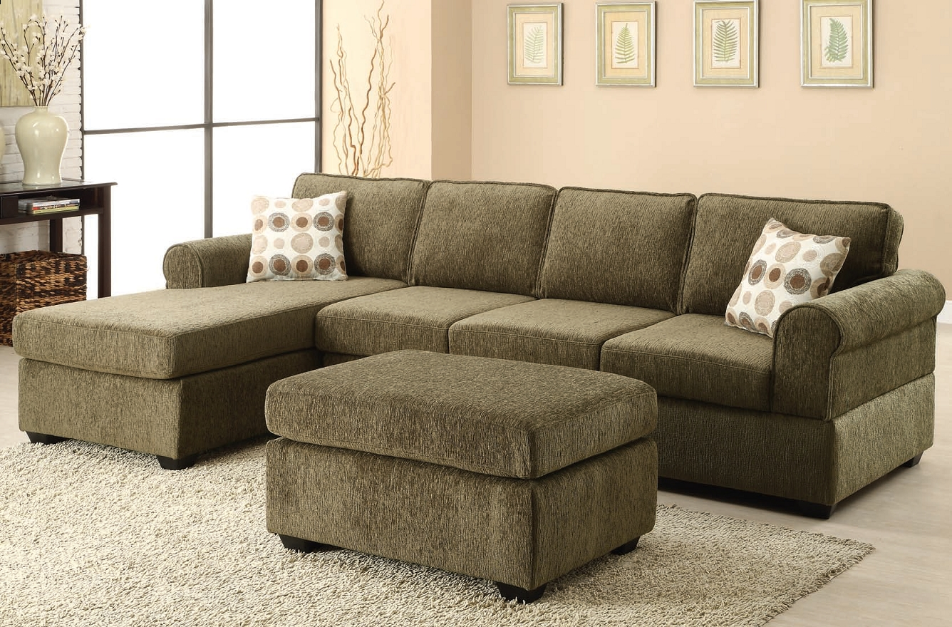 The Jensen Tarragon Reversible Sectional Sofa In Sage Green Inside Eau Claire Wi Sectional Sofas (View 10 of 10)
