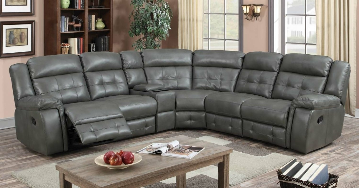 The Kingston Reclining Corner Group - L'amore Furnishings within Kingston Sectional Sofas (Image 9 of 10)