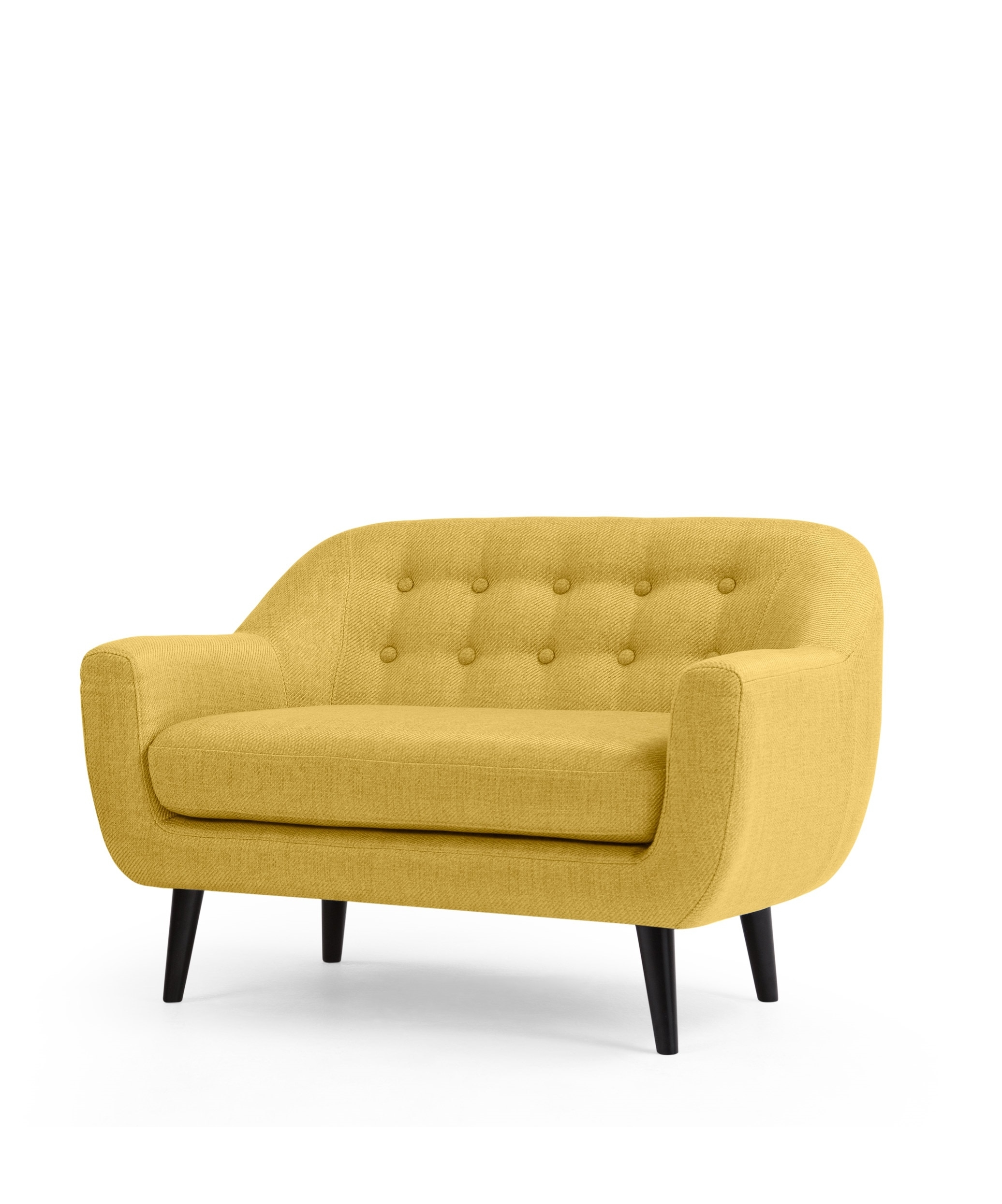 The Mini Ritchie 2 Seater Sofa, In Ochre Yellow. The Ritchie's intended for Mini Sofas (Image 7 of 10)