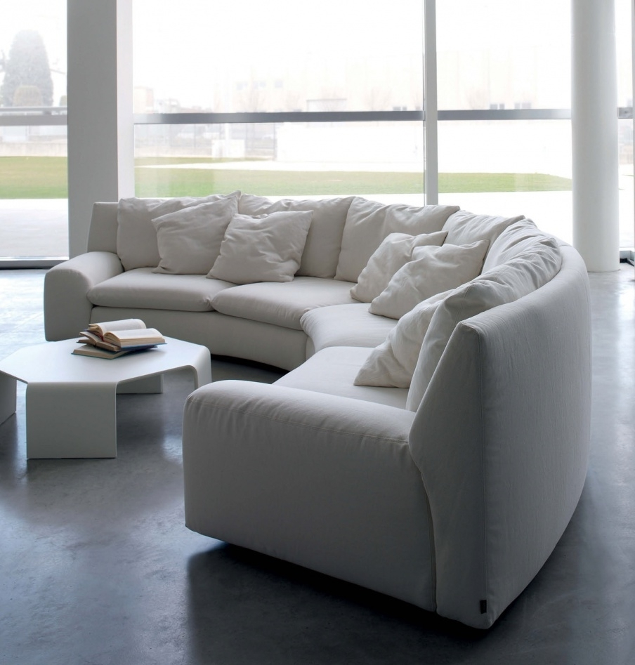 The Semicircular Sofa In Fabric Ben Ben, Arflex – Luxury Furniture Mr Pertaining To Semicircular Sofas (View 10 of 10)