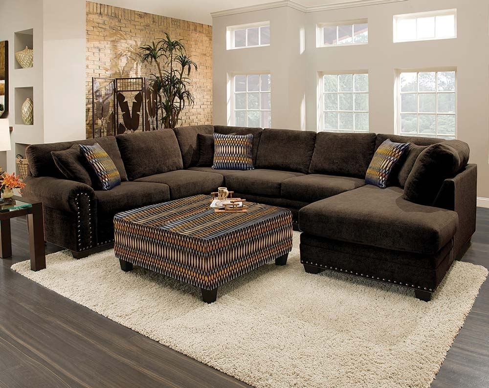 This Sectional Sofa Is Gigantic! As In Three Pieces, Gigantic. The U intended for Chocolate Brown Sectional Sofas (Image 10 of 10)