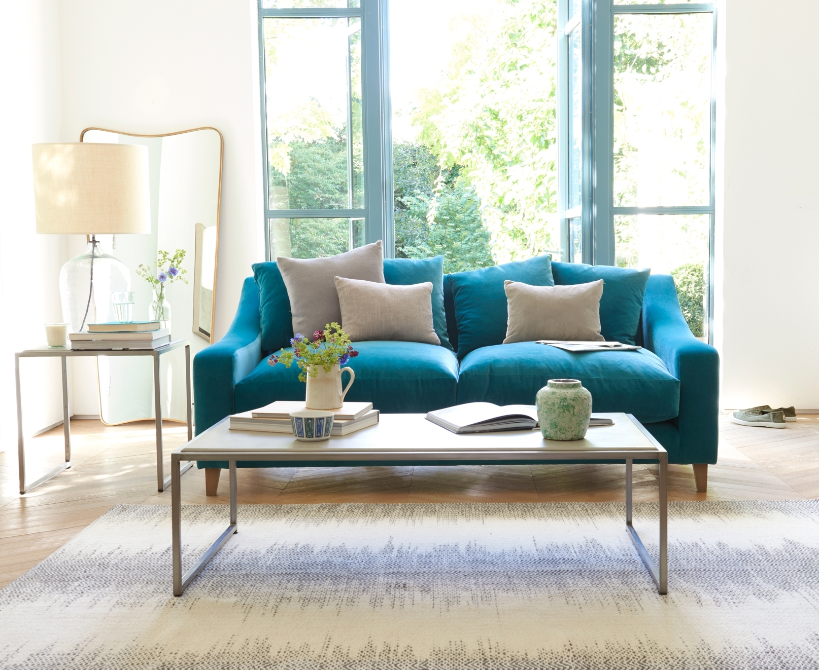 Turquoise Sofa Living Room — Awesome Homes : Best Ideas Turquoise Couch with Turquoise Sofas (Image 9 of 10)