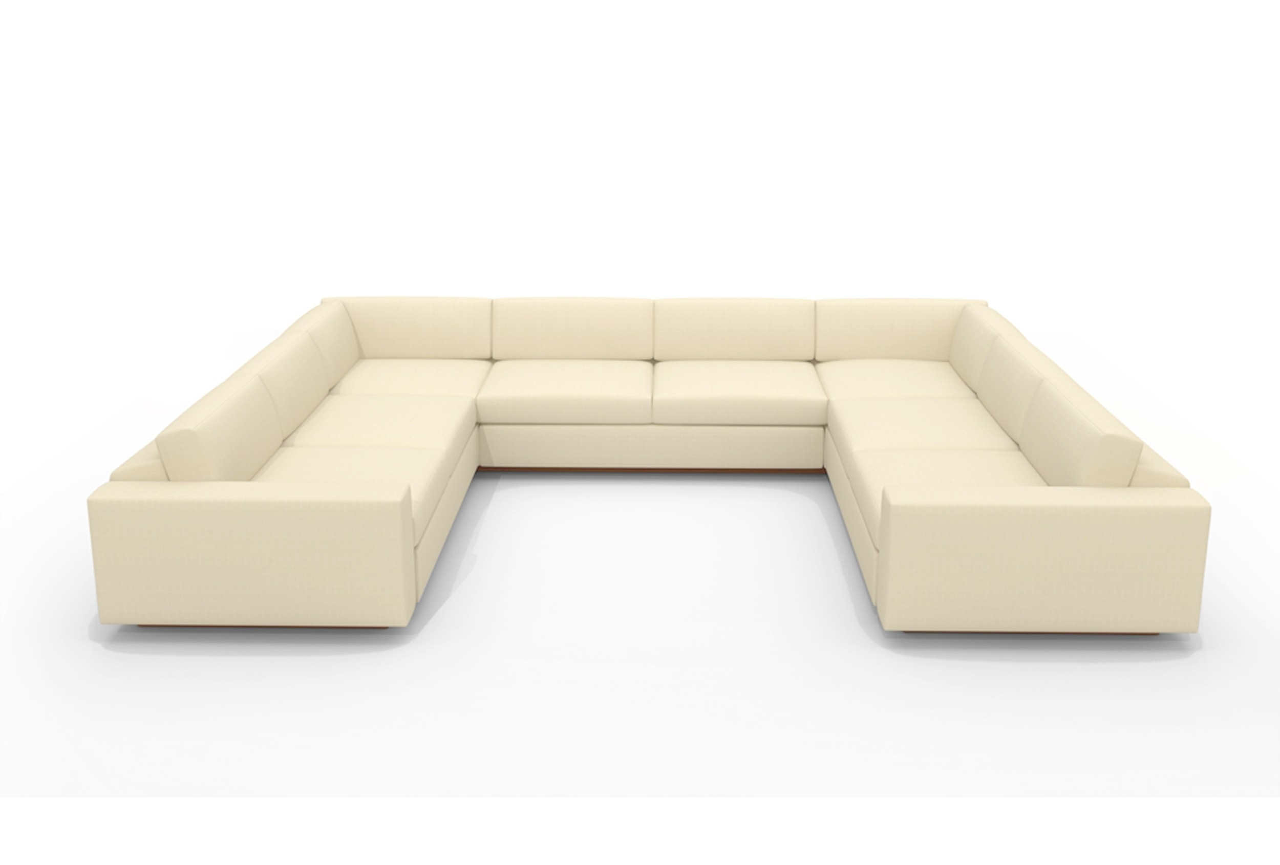 U Shaped White Leather Sectional Sofa With Back And Arm Of Marvelous in U Shaped Leather Sectional Sofas (Image 10 of 10)