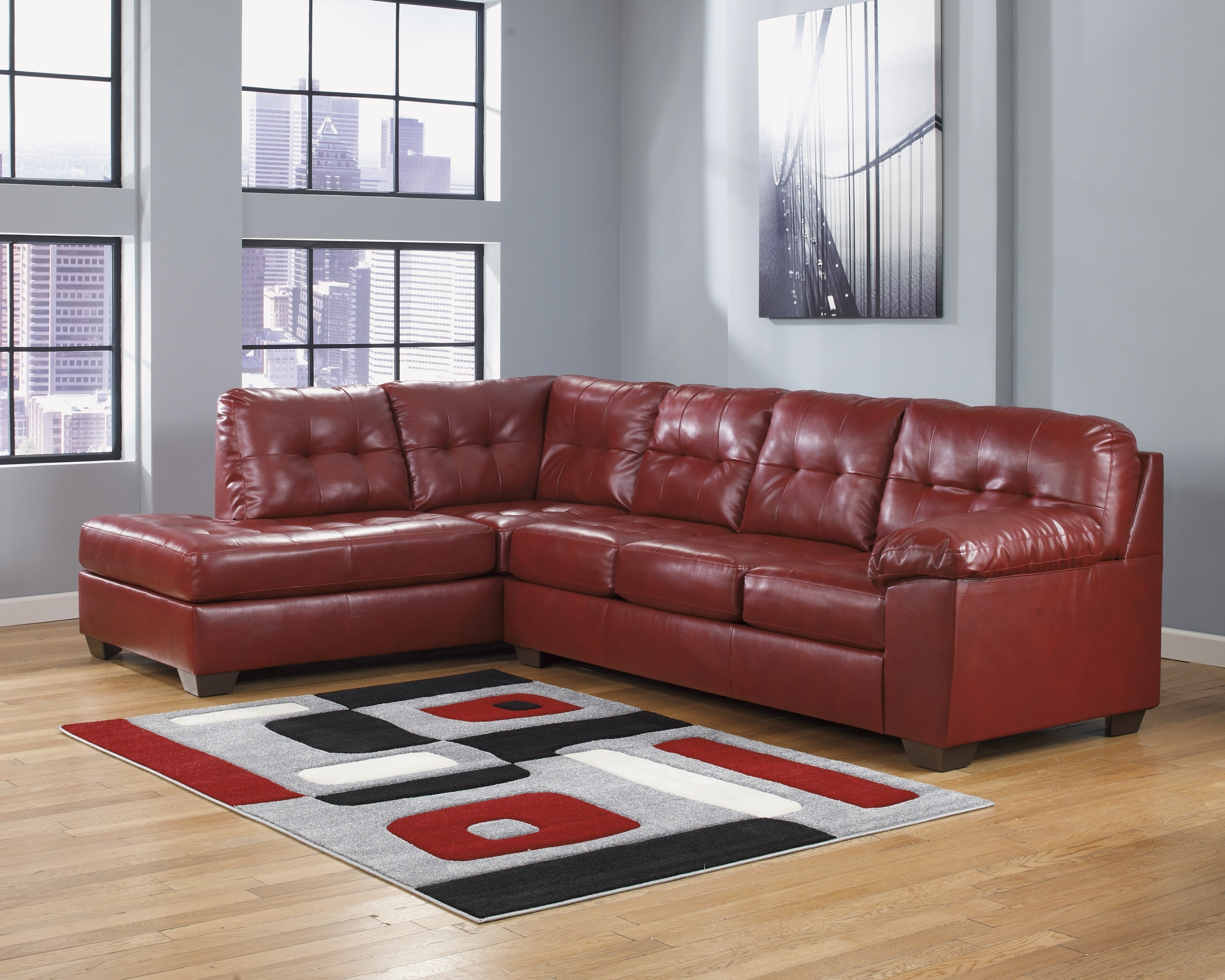 Unique Red Microfiber Couch And Loveseat 2018 – Couches And Sofas Ideas inside Red Leather Couches and Loveseats (Image 15 of 15)