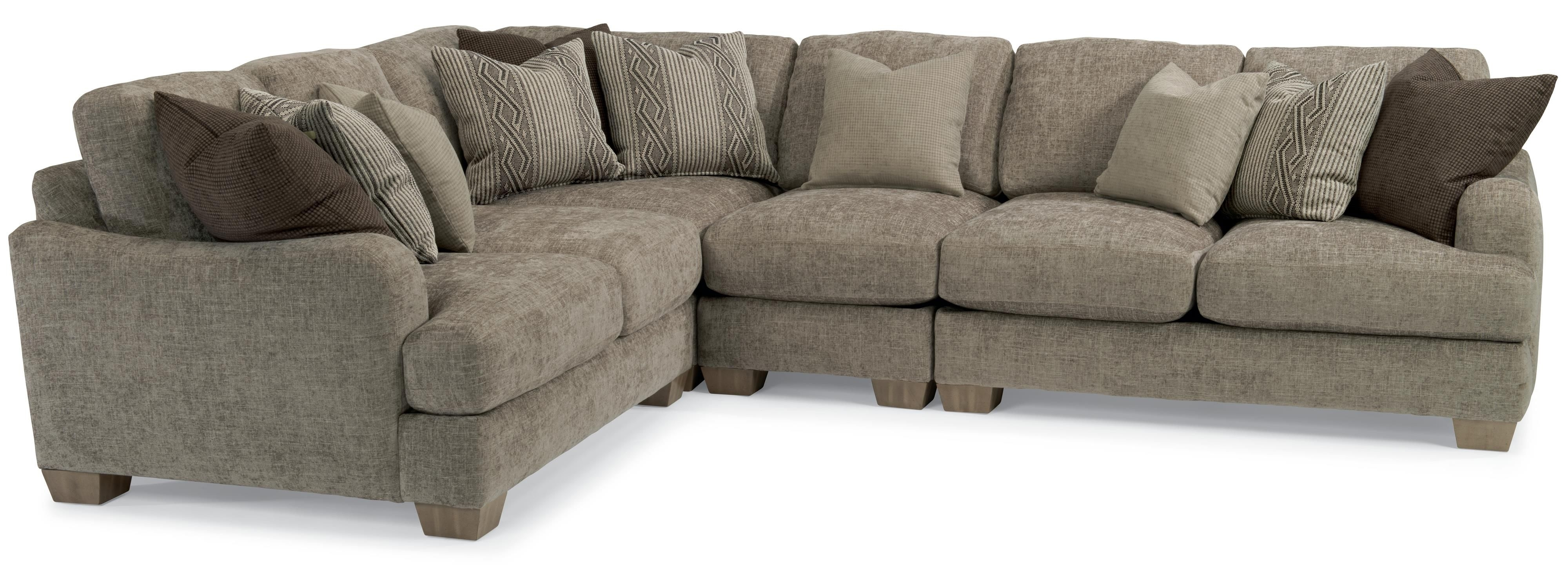 Vanessa Sectional Sofa With Loose Pillow Backflexsteel | Living intended for Homemakers Sectional Sofas (Image 10 of 10)