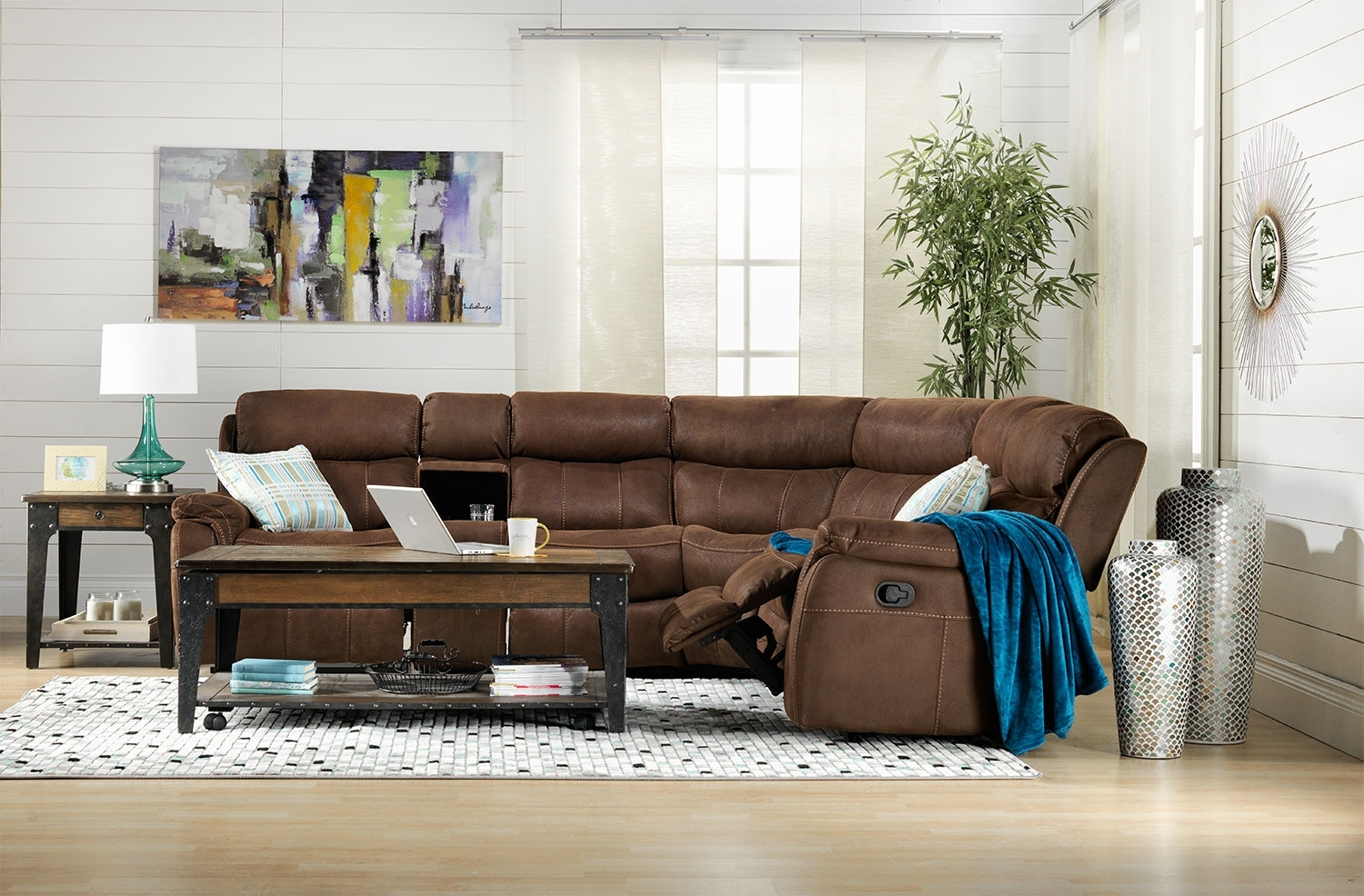 Vaquero 6-Piece Reclining Sectional - Saddle Brown | Leon's throughout Sectional Sofas at Brampton (Image 15 of 15)