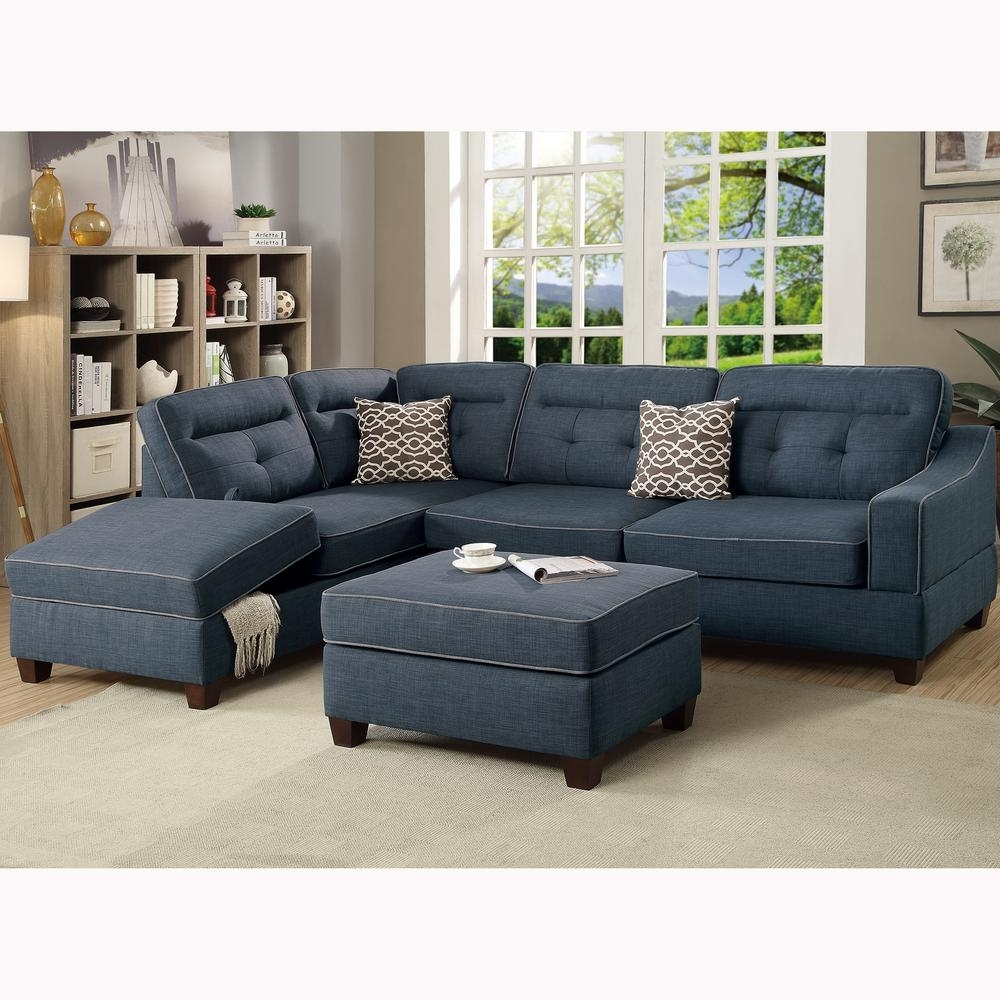 Venetian Worldwide Capri 3 Piece Dark Blue Sectional Sofa With In Sectionals With Ottoman (View 15 of 15)