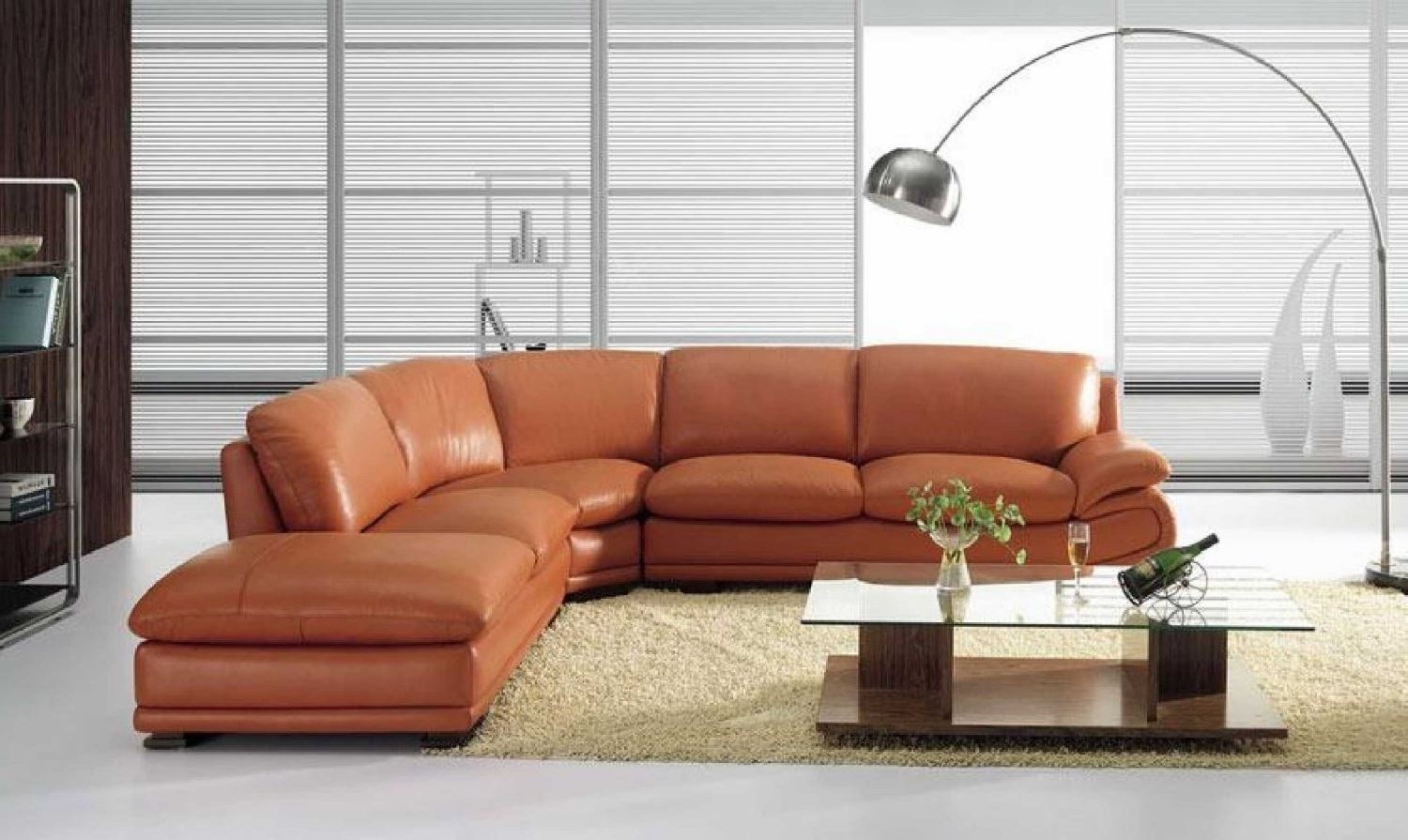 Vig Furniture Bo 3920 Leather Modern Camel Sectional Sofa with regard to Camel Sectional Sofas (Image 10 of 10)