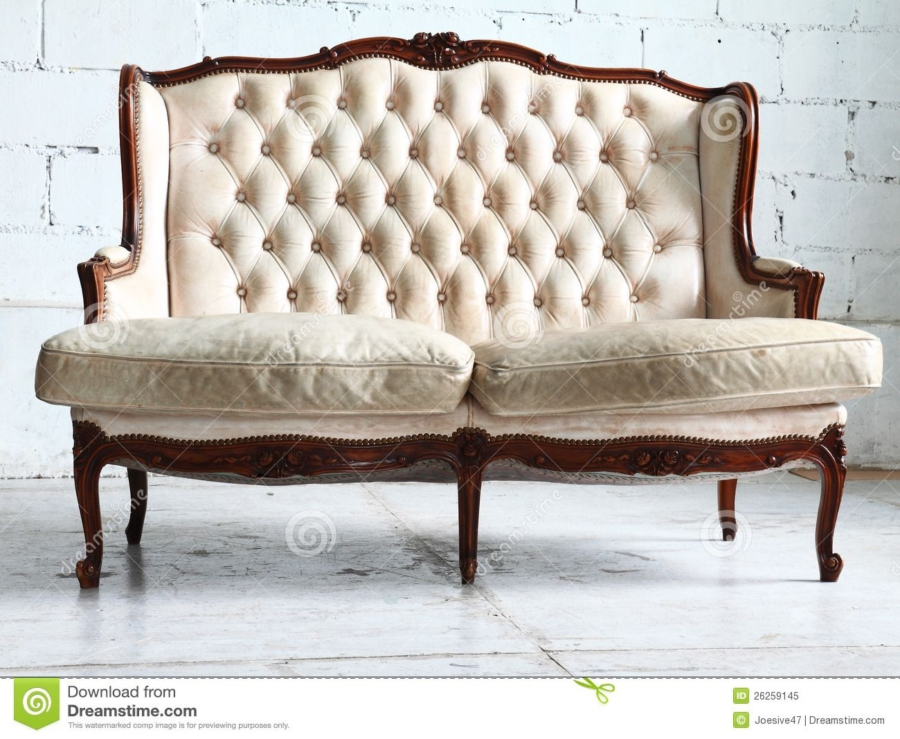 Vintage Sofa In The Room Royalty Free Stock Photo - Image: 26259145 inside Vintage Sofas (Image 7 of 10)