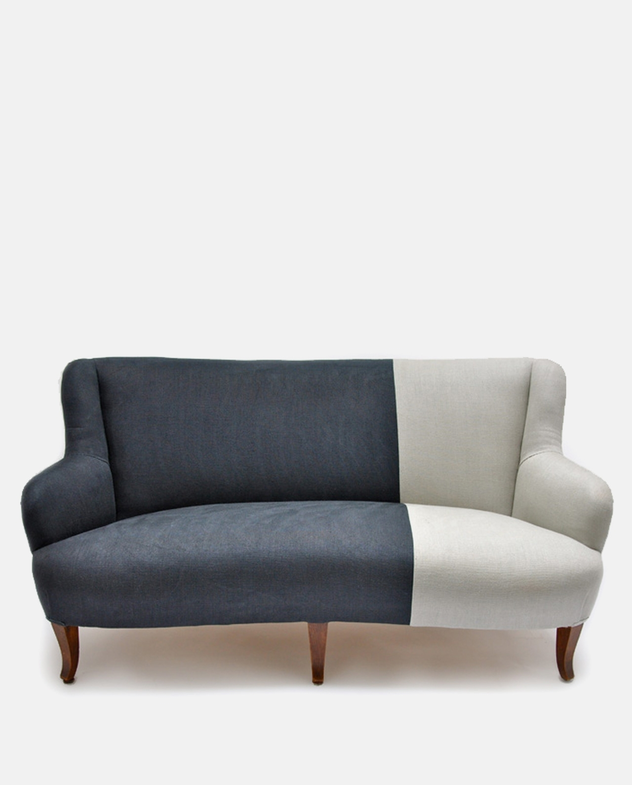 Vintage Two Tone Sofa Designers Guild Linen | Ines Cole Intended For Vintage Sofas (View 3 of 10)