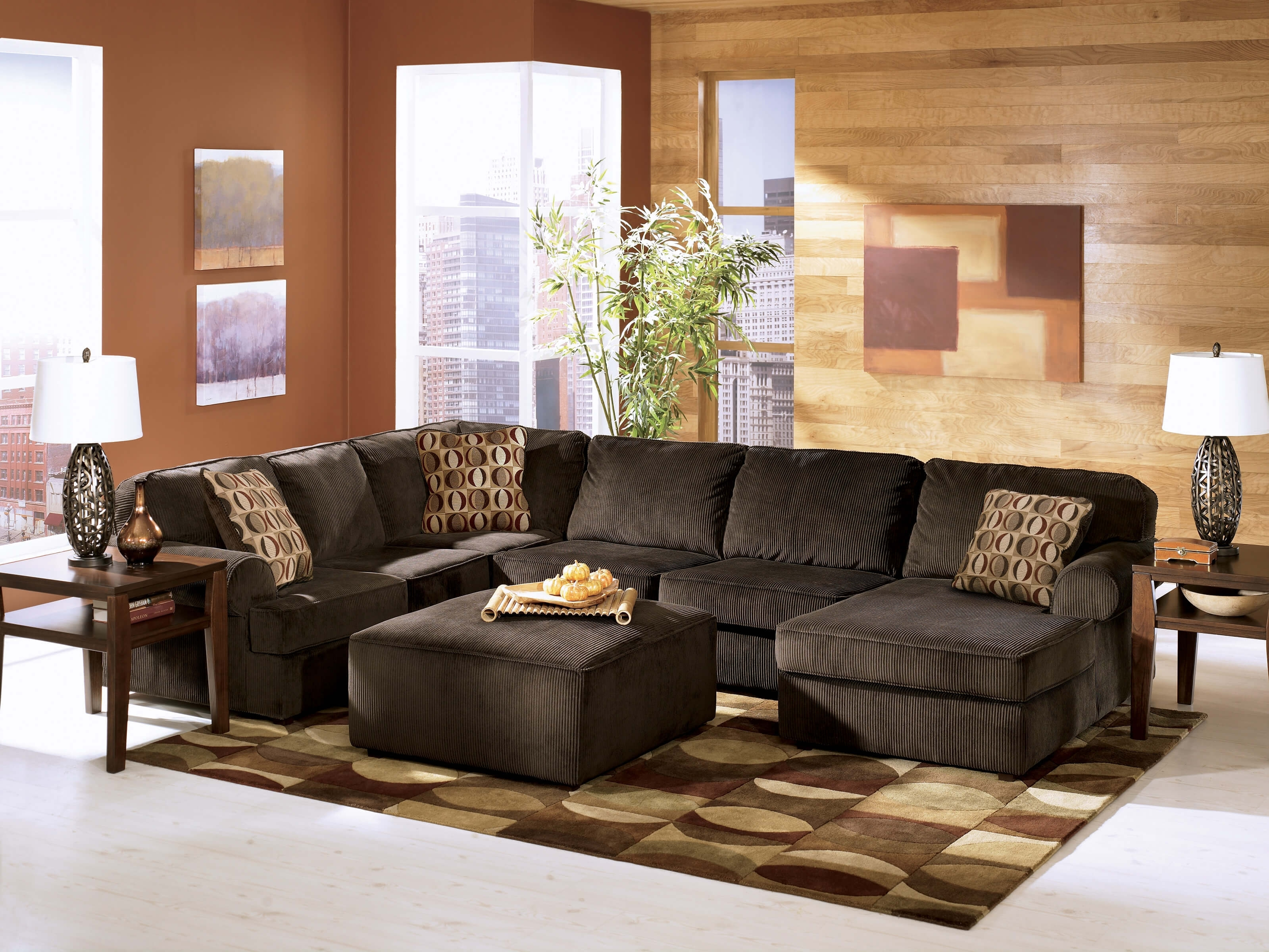 Vista Chocolate Ashley Sectional | Sectional Sofa Sets within Chocolate Sectional Sofas (Image 15 of 15)