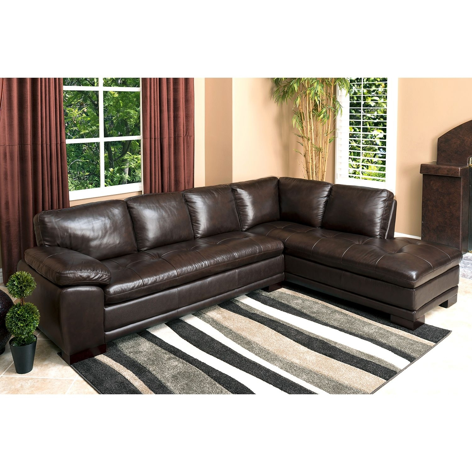 Westbury Top Grain Leather Sectional – Sam's Club | Sectionals In Sams Club Sectional Sofas (View 10 of 10)