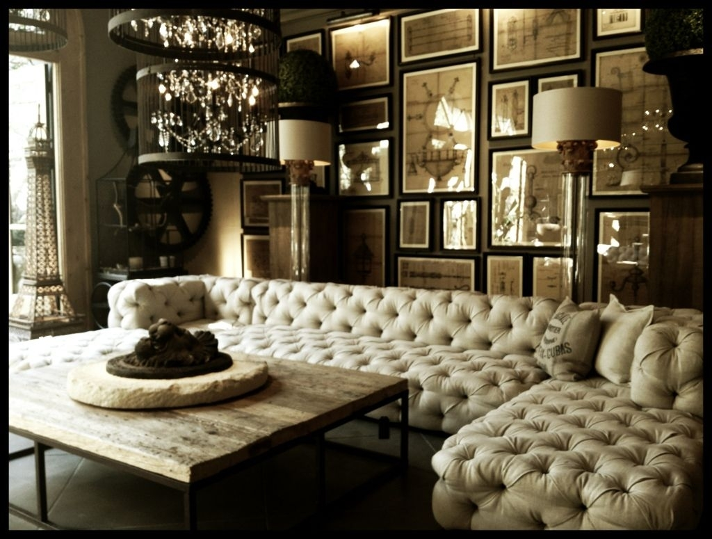When Classic Meets Modernity : Tufted Upholstered Sectional Sofa in Tufted Sectional Sofas (Image 10 of 10)