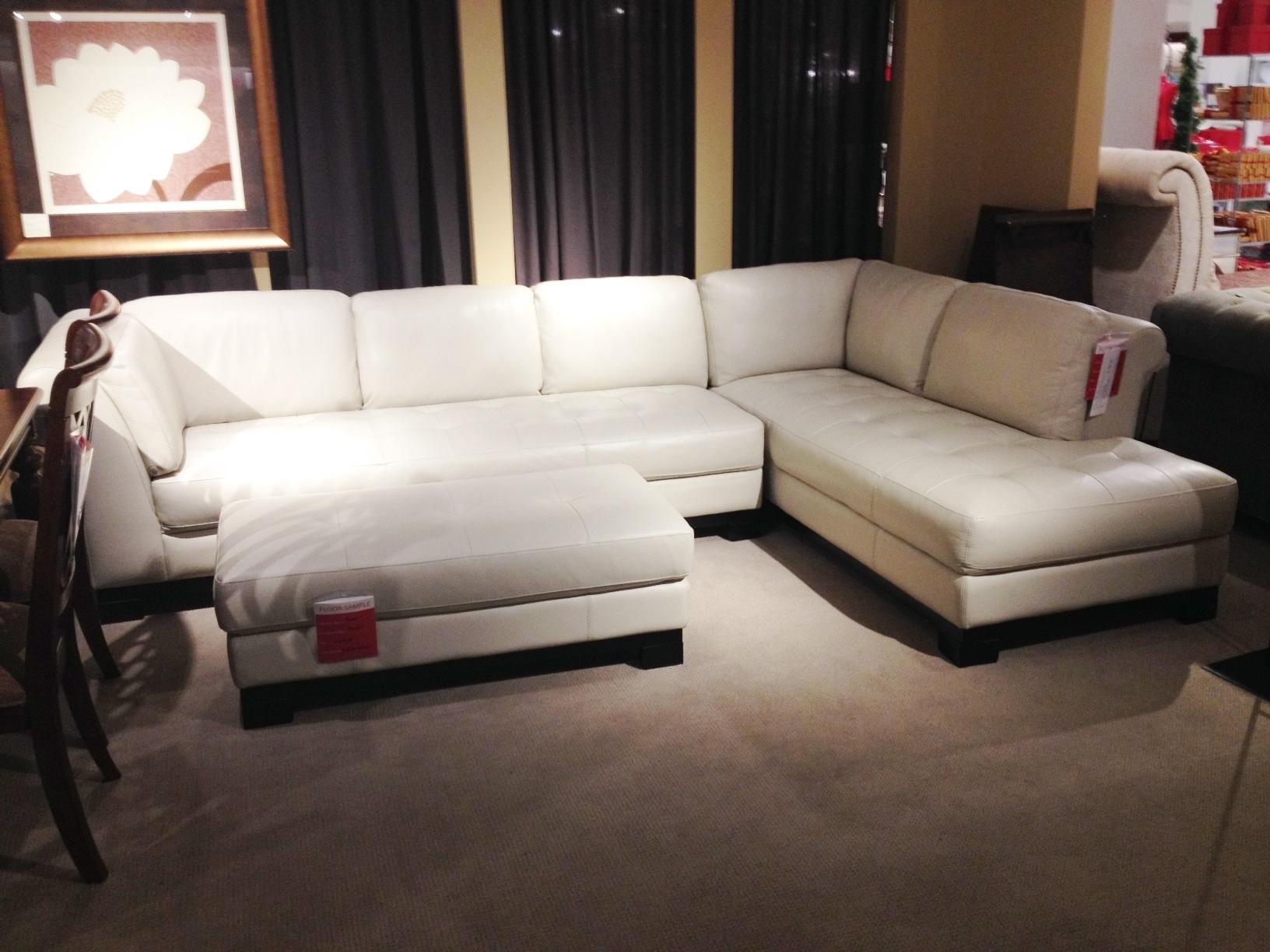 White Leather Sectional Sofa Macy's • Leather Sofa for Macys Sectional Sofas (Image 9 of 10)