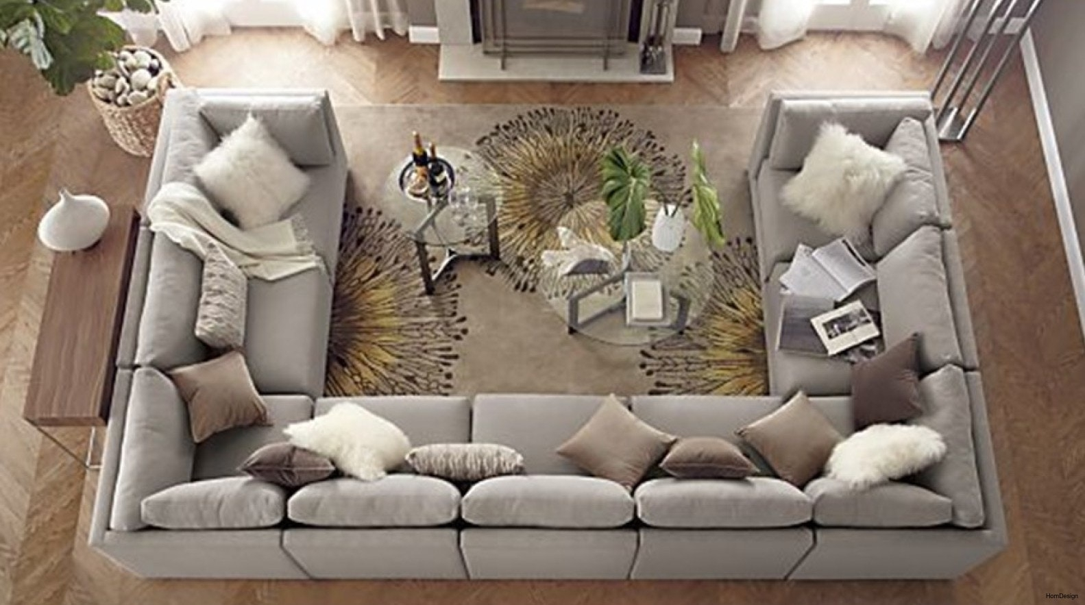 Wonderful U Shaped Sectionals Sofa With Ottoman Sectional Sofas Full Within Huge U Shaped Sectionals (View 14 of 15)