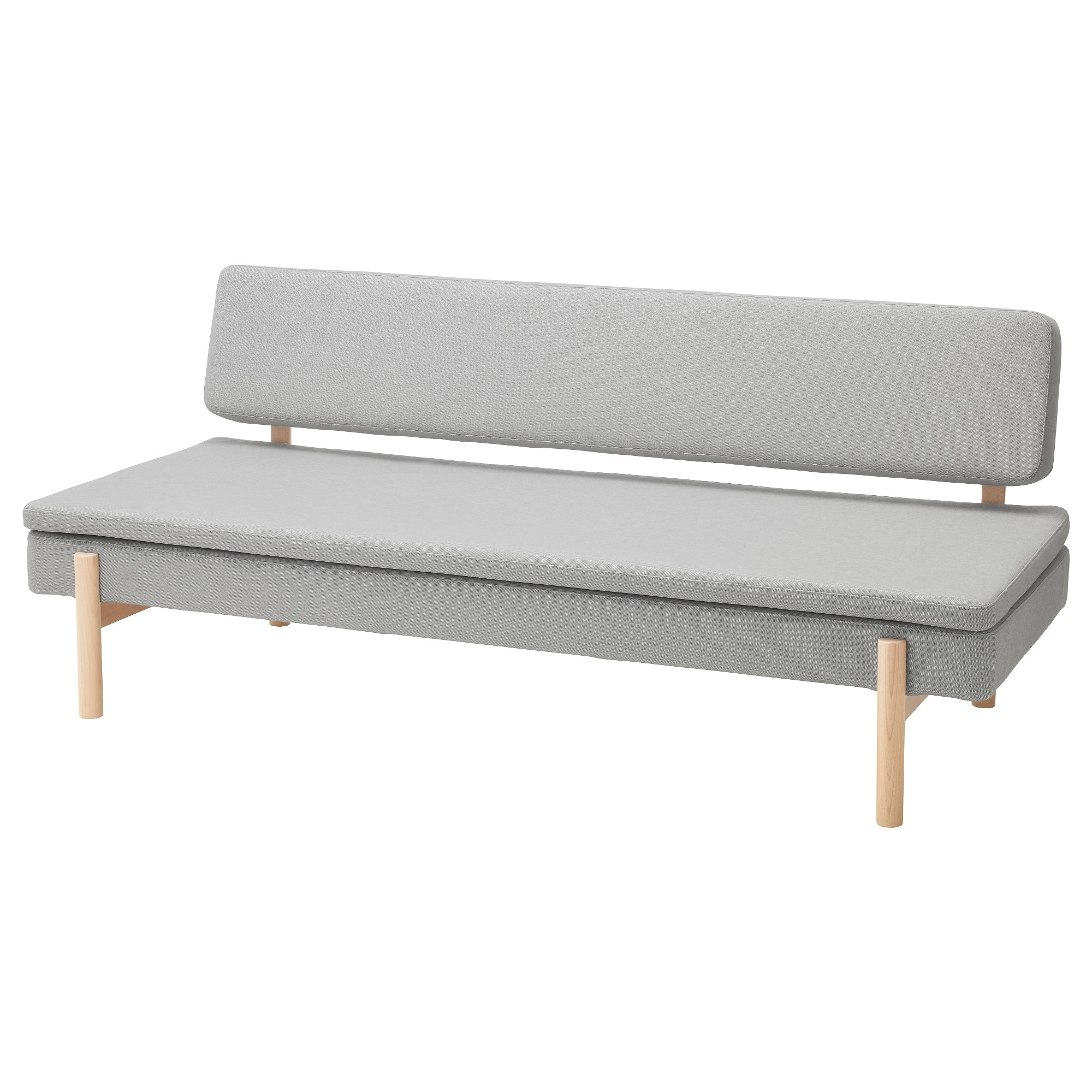 Ypperlig 3-Seat Sofa Bed Ramna Light Grey - Ikea within Ikea Small Sofas (Image 10 of 10)