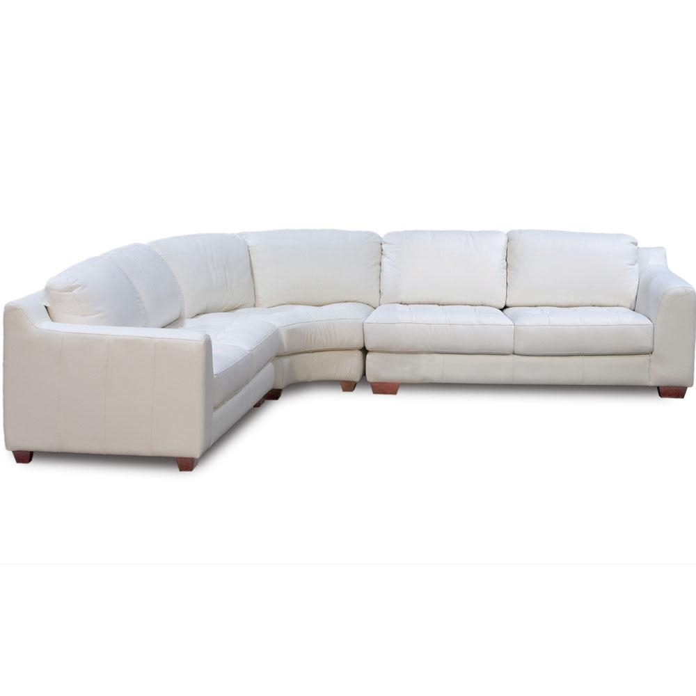 Zen Collection Arm Sectional With Armless Corner Wedge | Sectional Sofas Throughout Rounded Corner Sectional Sofas (View 10 of 10)