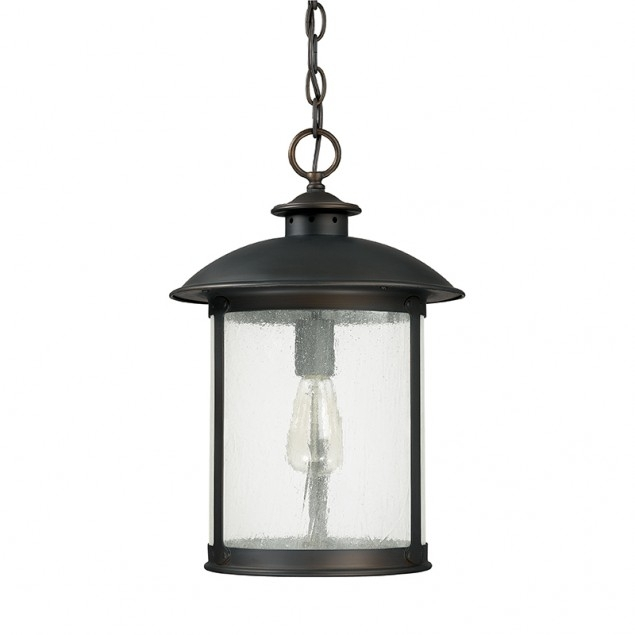 1 Light Outdoor Hanging Lantern | Capital Lighting Fixture Company intended for Outdoor Hanging Light Fixtures In Black (Image 1 of 10)