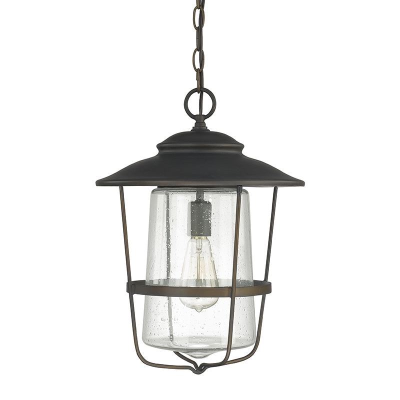 1 Light Outdoor Hanging Lantern | Capital Lighting Fixture Company throughout Outdoor Hanging Glass Lanterns (Image 1 of 10)