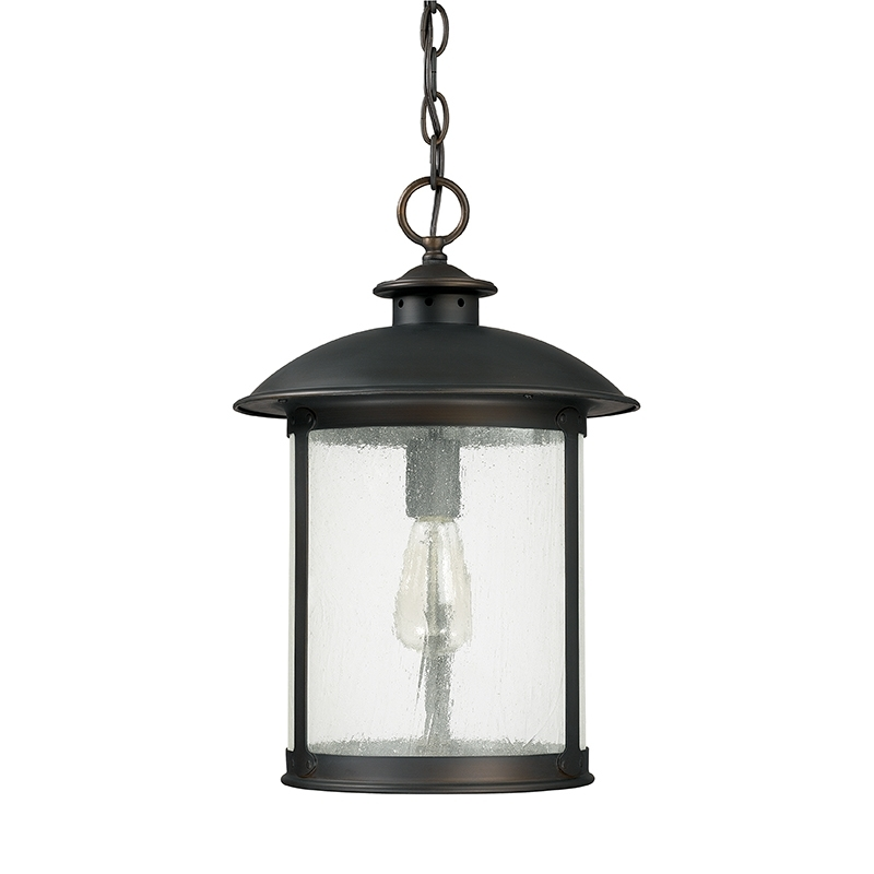1 Light Outdoor Hanging Lantern Capital Lighting Fixture Company With Extra Large Outdoor Hanging Lights (Photo 7 of 10)
