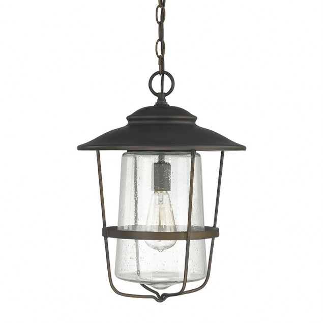 1 Light Outdoor Hanging Lantern | Capital Lighting Fixture Company within Outdoor Hanging Light in Black (Image 1 of 10)