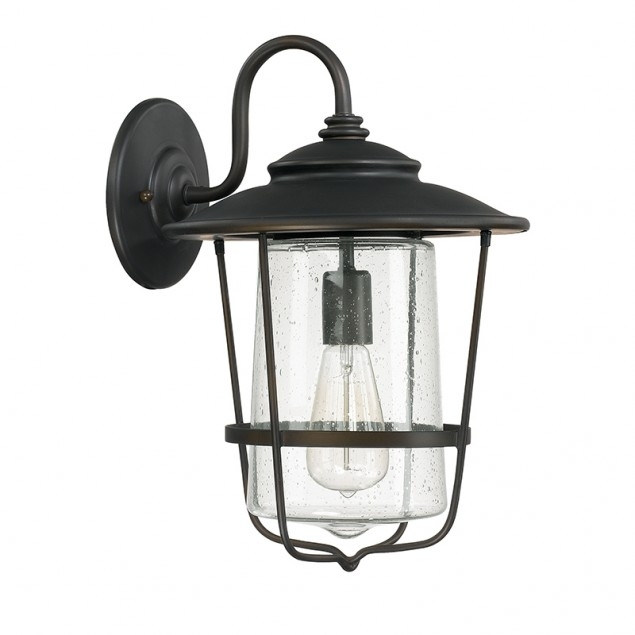 1 Light Outdoor Wall Lantern | Capital Lighting Fixture Company For Outdoor Wall Lighting With Seeded Glass (Gallery 10 of 10)