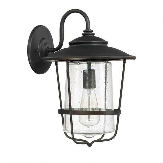 1 Light Outdoor Wall Lantern | Capital Lighting Fixture Company For Outdoor Wall Lighting With Seeded Glass (View 10 of 10)