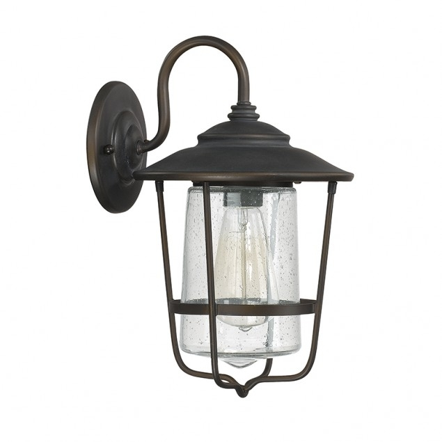 1 Light Outdoor Wall Lantern | Capital Lighting Fixture Company inside Outdoor Wall Lighting With Seeded Glass (Image 2 of 10)