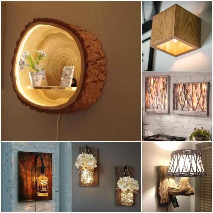 10 Creative And Unique Diy Wall Lamps inside Diy Outdoor Wall Lights (Image 1 of 10)
